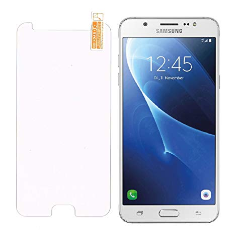 Smartphone-Equipment [2 Pack] Panzerglas für Samsung Galaxy J7 2016 Echt-Hartglas 9H, Glasfolie Schutzfolie Glas Folie Panzerfolie Display Schutz