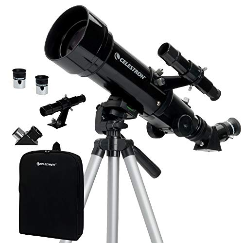 Celestron - 70mm Travel Scope - Portable Refractor Telescope - Fully-Coated Glass Optics - Ideal Telescope for Beginners - BONUS Astronomy Software...