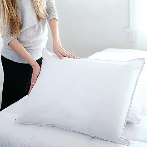 DOWNLITE Hypoallergenic Flat & Soft Down Pillow (Not Feathers) - Sold Individually