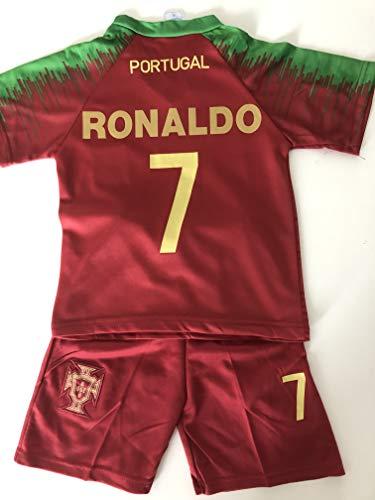Générique Nouveau Maillot ET Short Foot Portugal Euro 2020 Ronaldo 10 Ans 2 Etoiles
