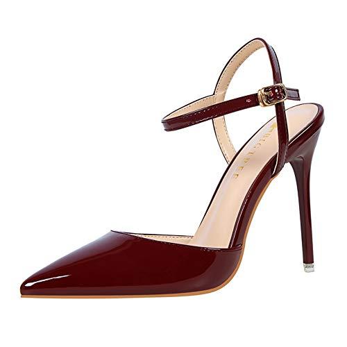 Moquite Damen Elegante Stiletto High Heels,Klassische Moderne Bequeme Sandalen,Sommer Absatze Pumpes Schuhe 34-40