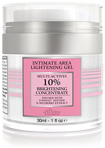 Divine Derriere Intimate Skin Lightening Gel for Body, Face, Bikini and Sensitive Areas - Skin Bleaching Cream Contains Mulberry Extract, Arbutin, B-White Peptide 30ml / 1 oz.
