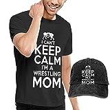 sunminey Homme T- T-Shirt Polos et Chemises I Cant Keep Calm Im A Wrestling Mom...