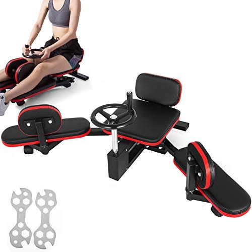 VEVOR Pro Leg Stretcher 220LBS Leg Stretch Machine Heavy Duty Steel Frame Leg Stretching Training Fitness Equipment Leg Stretcher for Home Gym