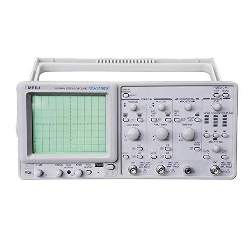Exacto Osciloscopio OS-3100G de 2 Canales a 100MHz 23 Funciones de medición Osciloscopio analógico Duradero (Size : 220V)