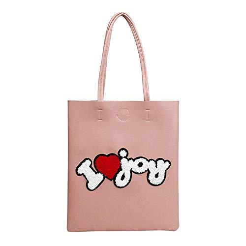 WYJW Ultrathin minimalistische rugzak, casual pu rugzak, eenvoudige multifunctionele draagbare boodschappentas, outdoor reistas, mode dames pakket, student schoudertas roze
