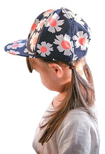 Bigood Chapeau Adulte Enfant Casquette de Baseball Soleil Plage Randonnée Eté Motif Fleurs Tour Tête 46-48cm