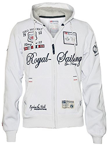 Geographical Norway Men Kapuzen Pullover Fighter M in Weiss