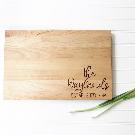 Custom Cutting Board with Wedding Anniversary Date. | Etsy