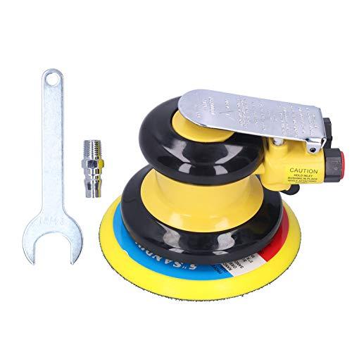 ROMACK Máquina pulidora, lijadora de Aire, Mango de Goma sin vibración, máquina de pulir de Alta Resistencia para decoración del hogar para Pintura de Pared