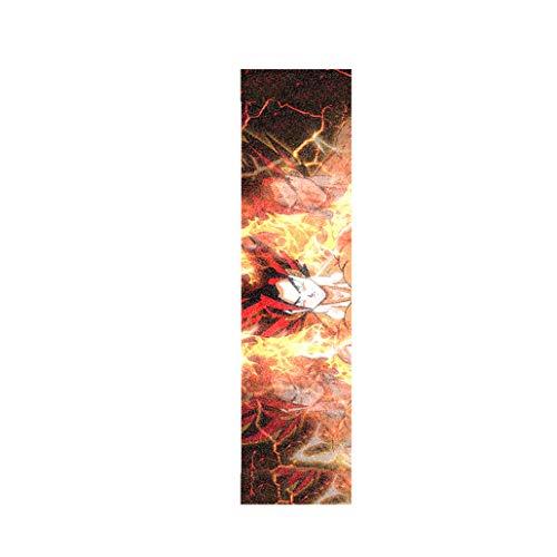 Griptape 33 Zoll / 48 Zoll Short Board Longboard Skateboard Anime Goku Red Gott Grip Tape (Color : Positive 33 inch)