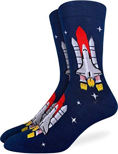 Good Luck Sock Men's Space Shuttle Socks, Adult