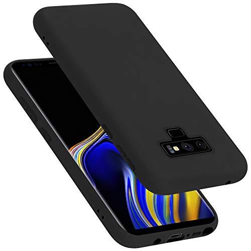 Cadorabo Hülle für Samsung Galaxy Note 9 in Liquid SCHWARZ - Handyhülle aus flexiblem TPU Silikon - Silikonhülle Schutzhülle Ultra Slim Soft Back Cover Hülle Bumper