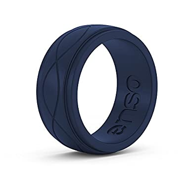 Enso Mens Infinity Silicone Ring, Navy Blue 11