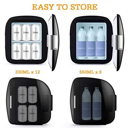 41IDGwCWgRL - AstroAI Mini Refrigerador Portátil para el Skincare 9L, Mini Neveras 220V/12V para Enfriar y Calentar (negro)