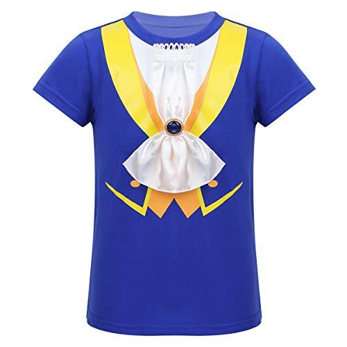 Freebily Disfraz de La Bella y La Bestia Bebé Costume Principe de Fiesta Ceremonia Bautizo Boda Camiseta Manga Corta Bebé Niño Azul 18-24 Meses