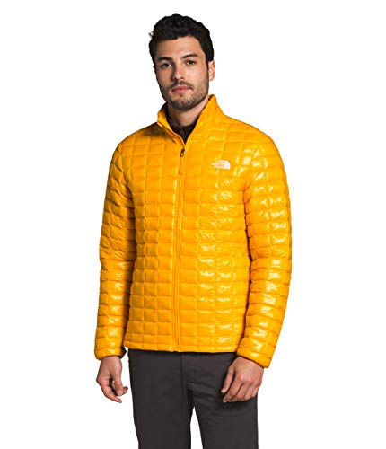 The North Face Men's Thermoball Eco Insulated Jacket - Fall or Winter Coat, Summit Gold, S