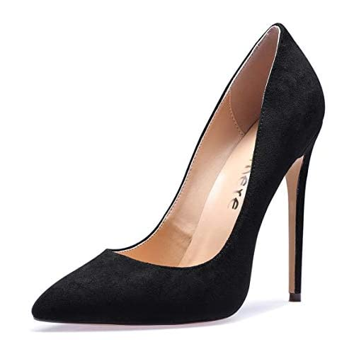 CASTAMERE Womens High Heels Party Wedding Pointed Toe Slip On Court Shoes Classic Elegant Pumps 4.7IN Stiletto Heels