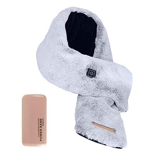 ZYZYGXQ Bufanda con calefacción USB con 3 Niveles de Temperatura Ajustable Unisex Suave Polar de algodón Bufanda eléctrica cálida a Prueba de Viento con Bolsillos Invierno al Aire libr