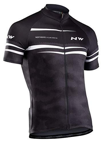 Northwave Origin Fahrrad Trikot kurz schwarz/weiß 2020: Größe: XXL (54)