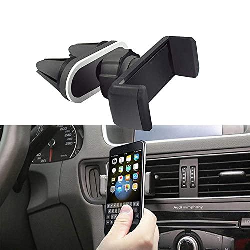 Soporte Universal para teléfono para automóvil Soporte de ventilación de Aire Clips de Montaje Doble 360 Rotación Soporte para GPS Soporte para Samsung iPhone LG xiaomi-Negro