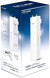 TP-LINK WBS210 - Estación Base para Exteriores de Banda 2.4 GHz a 300 Mbps (hasta 30 dBm, 2T2R, 1 Puerto 10/100 y 1 Puerto 10/100/1000 LAN, PoE ...