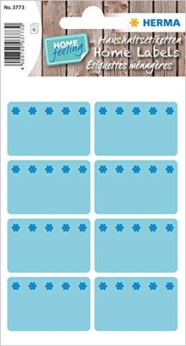 HERMA 3773 Gefrieretiketten bis zu -30°C, blau, 40 x 26 mm, selbstklebende Tiefkühletiketten zum Beschriften für Büro, Küche, Haushalt und Marmelade, 48 kleine Haushaltetiketten