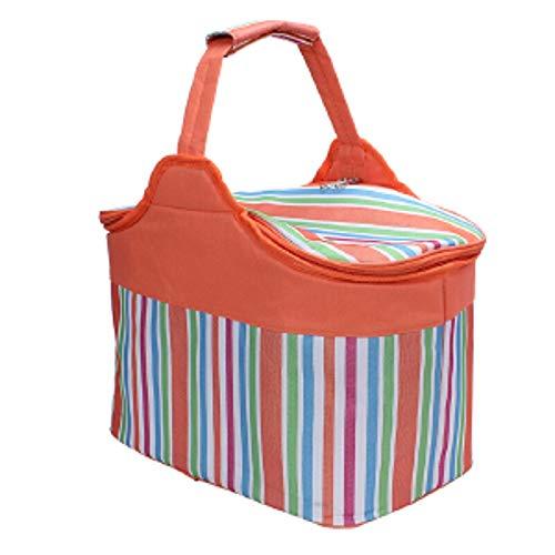 HIZLJJ Picknicktasche Rucksack/isolierte Picknickkorb Outdoor große Kapazität tragbare Picknicktasche for Familien Outdoor Camping
