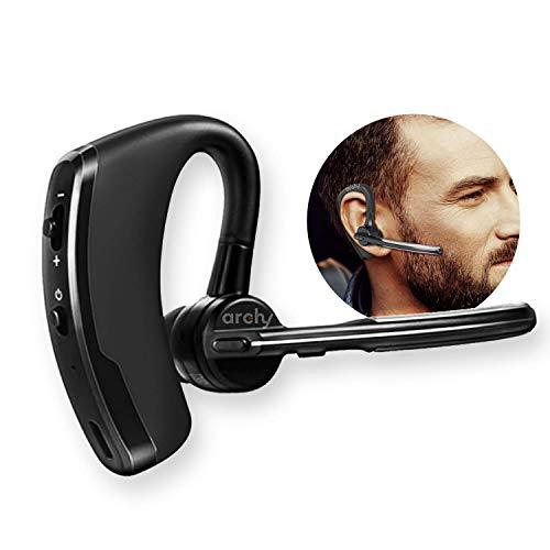 Archy Audífono Auricular Manos Libres Bluetooth 4.0 Inalámbrico con Cancelación de Ruido para iPhone y Android (ly124)