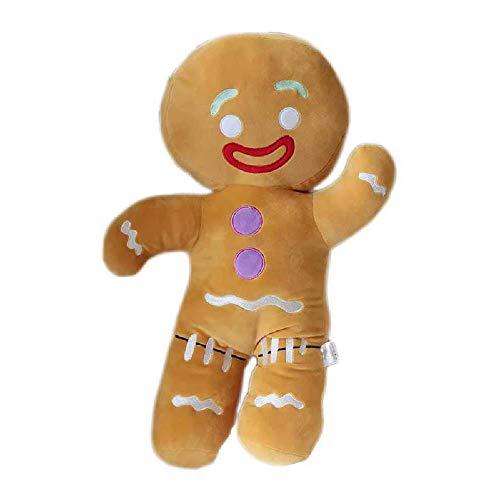 GQQ Cartone Animato Carino Omino di Pan di Zenzero Giocattoli di Peluche E Ciondolo Farcito Bambino Placare Bambola Biscotti Uomo Cuscino Renna per Regalo per Bambini 30 cm/Cookie Man