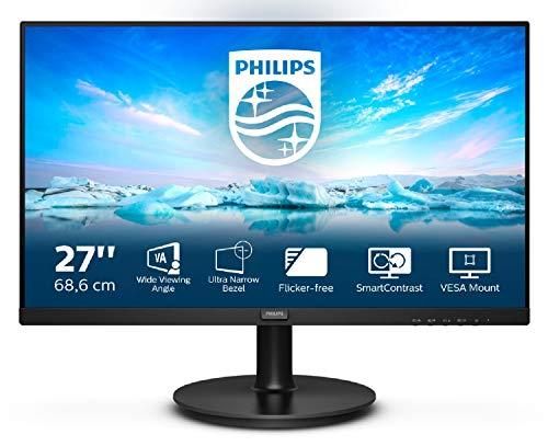Philips 271V8L 68 cm (27 Zoll) Monitor (VGA, HDMI, 1920x1080 Pixel, 75 Hertz, FreeSync) schwarz