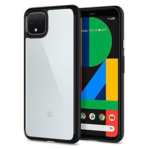 Spigen Ultra Hybrid Kompatibel mit Google Pixel 4 XL Hülle, Einteilige Transparent Durchsichtige PC Rückschale Handyhülle Case Matte Black F25CS27550