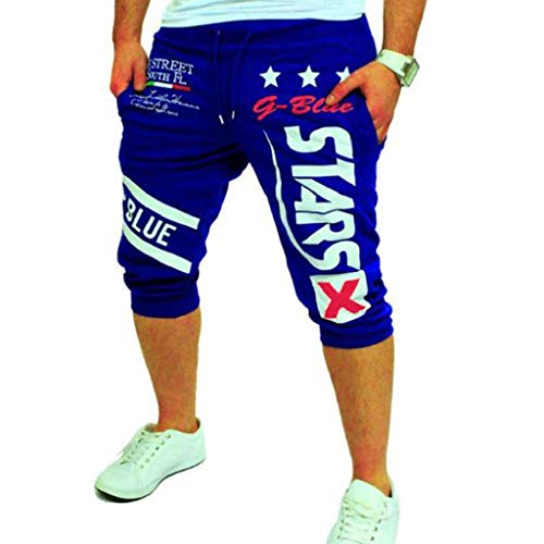 Pantalones Cortos Hombre Verano 2019 Nuevo SHOBDW Casual Impresión de Letras Pantalones Hombre Chandal Tallas...