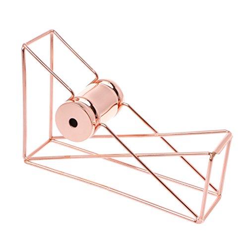 MENTIN–Dispensador de cinta adhesiva para escritorio, organizador de almacenamiento de cinta, color oro rosa B#