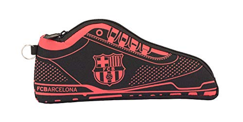Safta Estuche Portatodo Zapatilla f.c.Barcelona Black 24x10x2, Niños, FC Barcelona, 24 cm