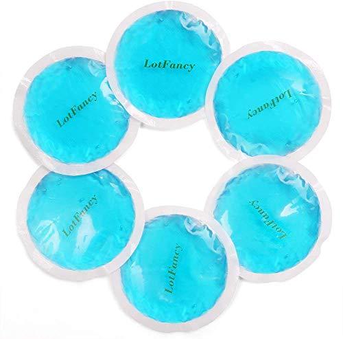LotFancy Compresa de Gel Reutilizable 6 Piezas Bolsas de Terapia Frío/Caliente Pequeña, Multiusos para Primeros Auxilios, Esguinces, Dolores Musculares o Articulares, Ojos Cansados, Muelas del