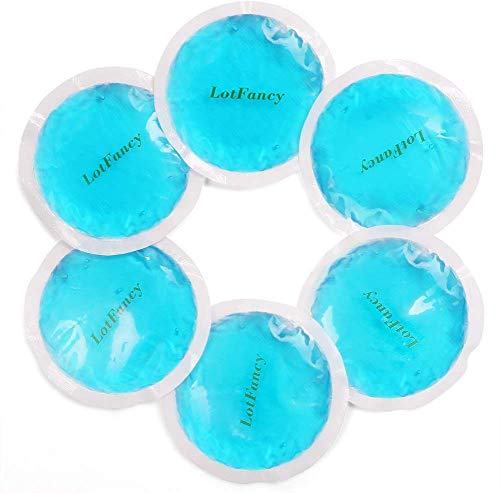 LotFancy Compresa de Gel Reutilizable 6 Piezas Bolsas de Terapia Frío/Caliente Pequeña, Multiusos para Primeros Auxilios, Esguinces, Dolores Musculares o Articulares, Ojos Cansados, Muelas del Juicio
