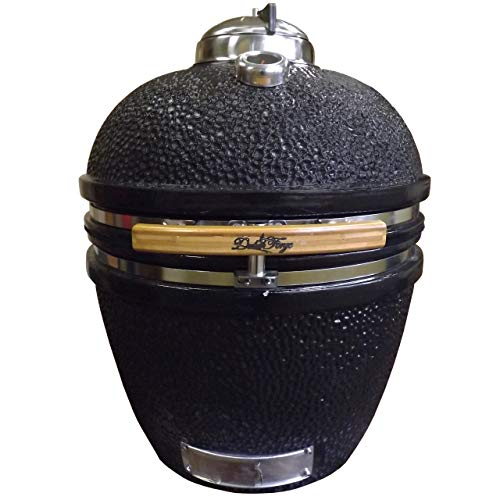 Duluth Forge 140030 DF-CC-18-BK kamado Grill, 18 Inch, Black