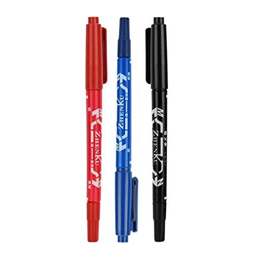Homyl 3 Pcs Lot de stylos à double pointe pour des livres de coloriage pour adulte Journal prise de note Dessin Planning, d'art Project