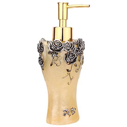 TOPBATHY Europäische Art Rose Leere Flasche Spender Körperwäsche Shampoo Wasserpumpe Flaschen Nachfüllbare Handseifenbehälter