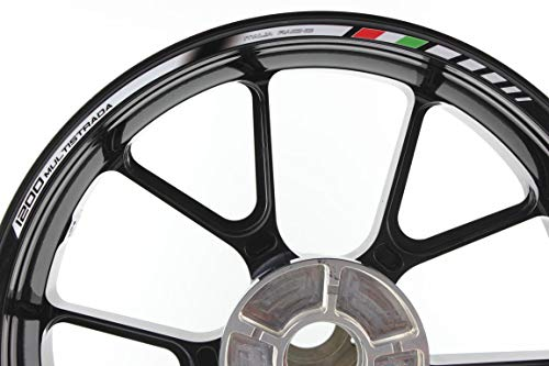 IMPRESSIATA Bandas Adhesivas SpecialGP Moto Ducati Multistrada 1200 Blanco