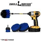 Boat Accessories - Swimming Pool - Blue Medium Drill Brush Scrub Kit with Extension - Hull, Deck, Fiberglass,...
