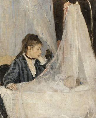 Kunstdruck The Cradle Berthe Morisot Mutter Kind Baby Wiege Schlafen Schleier B A3 00879
