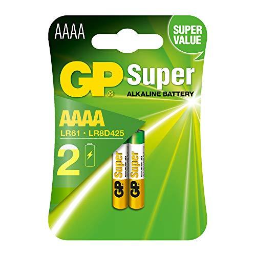 GP Super Alkaline Batterie Mini (AAAA / LR8D425 / LR61 / LR80425) 2 Stück im Blister