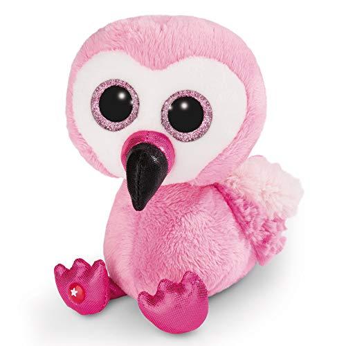 NICI Glubschis: Das Original – Glubschis Flamingo Fairy-Fay 15 cm – Kuscheltier Flamingo mit großen Augen – Flauschiges Plüschtier mit großen Glitzeraugen – Schmusetier für Kuscheltierliebhaber–45557
