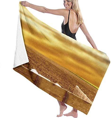 Strandtuch Traktor Feld Mikrofaser Badetücher Schnelltrocknende Handtuchdecke Für Reisen Schwimmbad Yoga Camping Gym Sport 80X130 cm