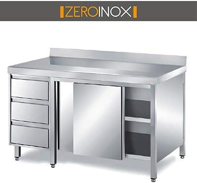 Samblo Armario Bajo de Cocina con 2 Puertas, Blanco, 34 x 60 x 80 ...