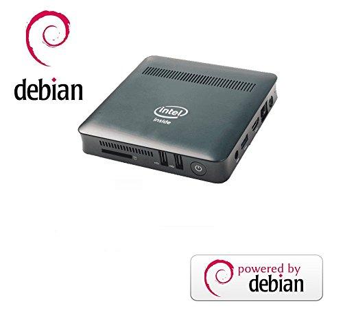 Ovega Mini PC MN5: Intel Atom N3450 Quad Core, 2 GB DDR3 32 GB SSD Linux, VESA-Halterung, HDMI, WiFi, USB3.0, LAN-Anschluss RJ45 (Debian)