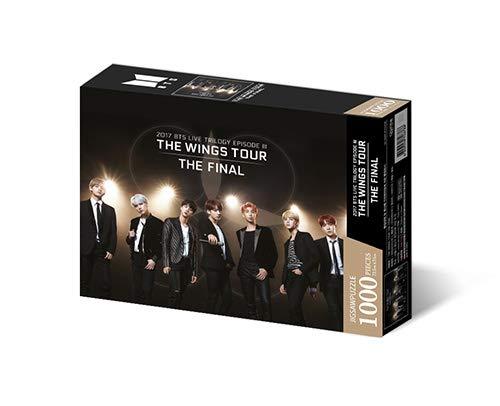 Big Hit Entertainment BTS Bangtan Boys - BTS Jigsaw Puzzle - World Tour Poster 1000 Pieces Puzzle+Extra Photocards Set (1 : The Wings Tour)