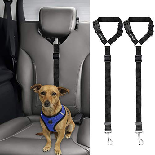 2 Packs Dog Cat Safety Seat Belt Strap
